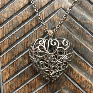 Jewelry - Oversized Heart Swirl Cage Necklace